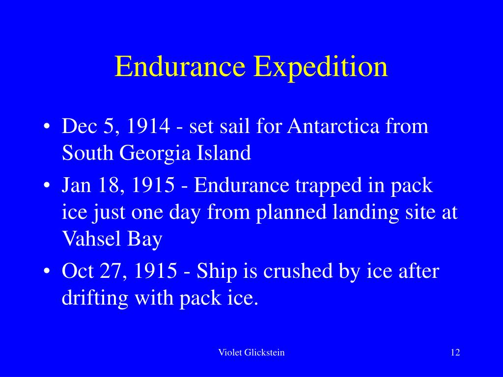 Endurance Expedition