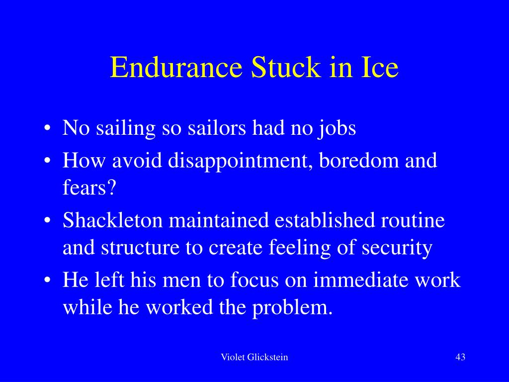 Endurance Stuck in Ice