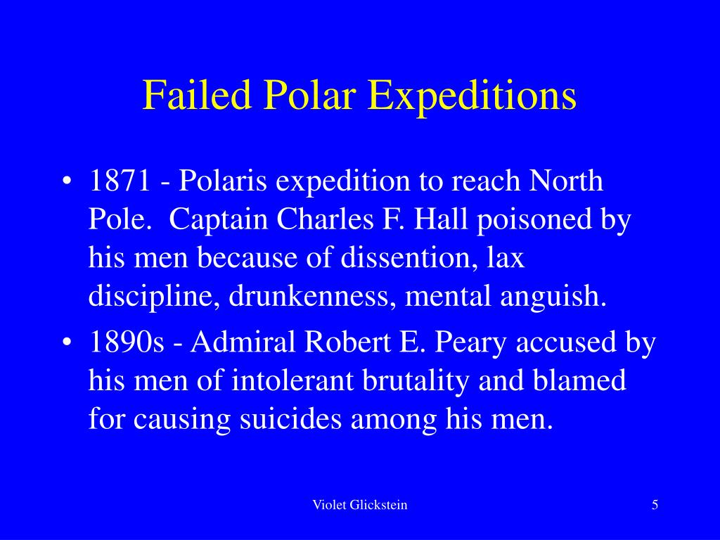 Failed Polar Expeditions