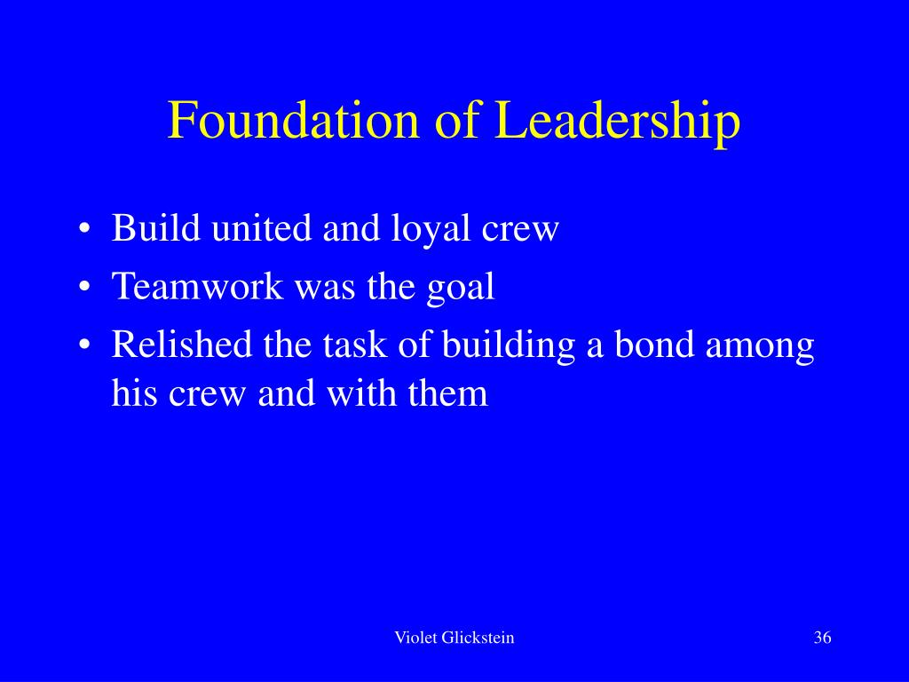 Foundation of Leadership