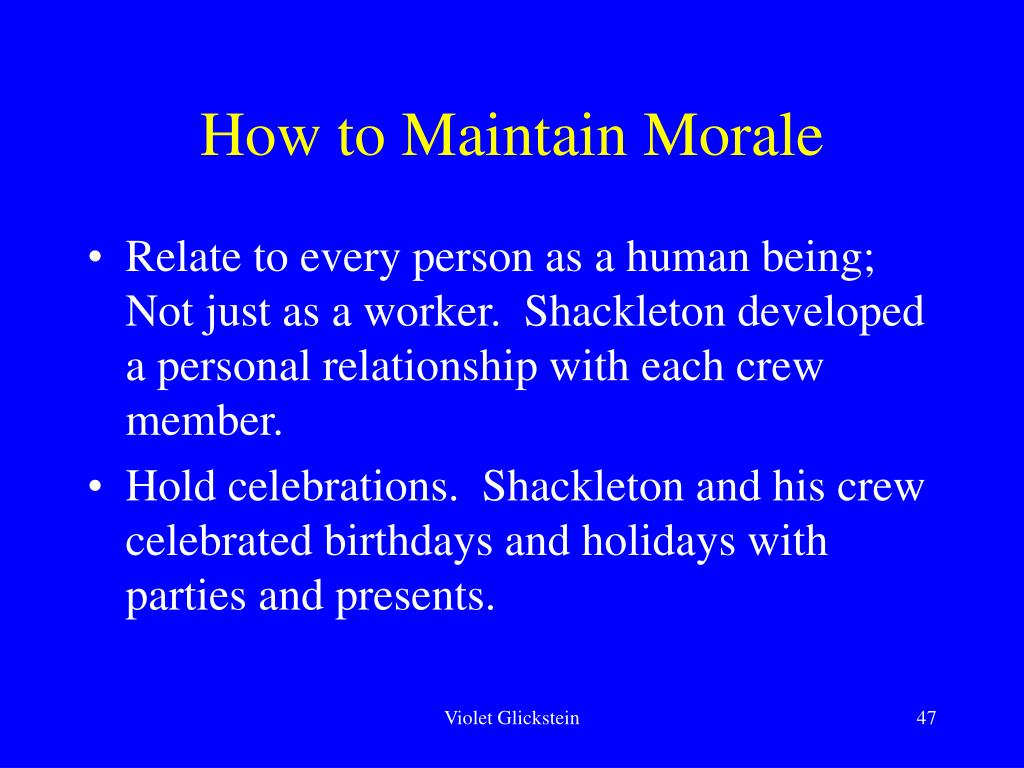 How to Maintain Morale