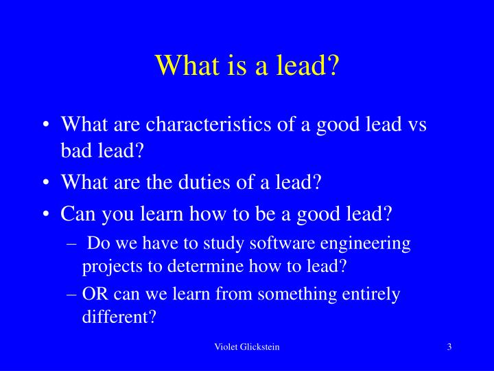 What is a lead3