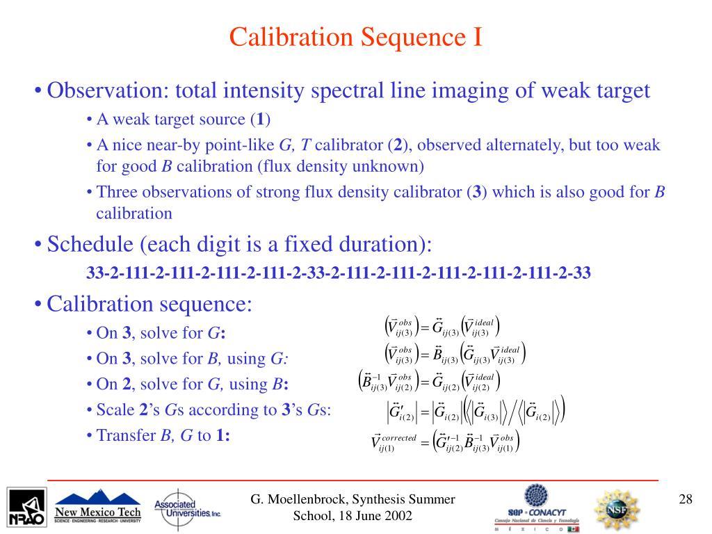 Calibration Sequence I