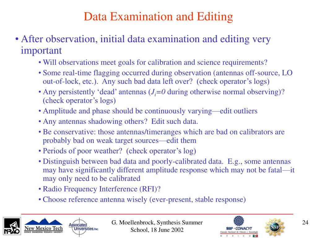 Data Examination and Editing