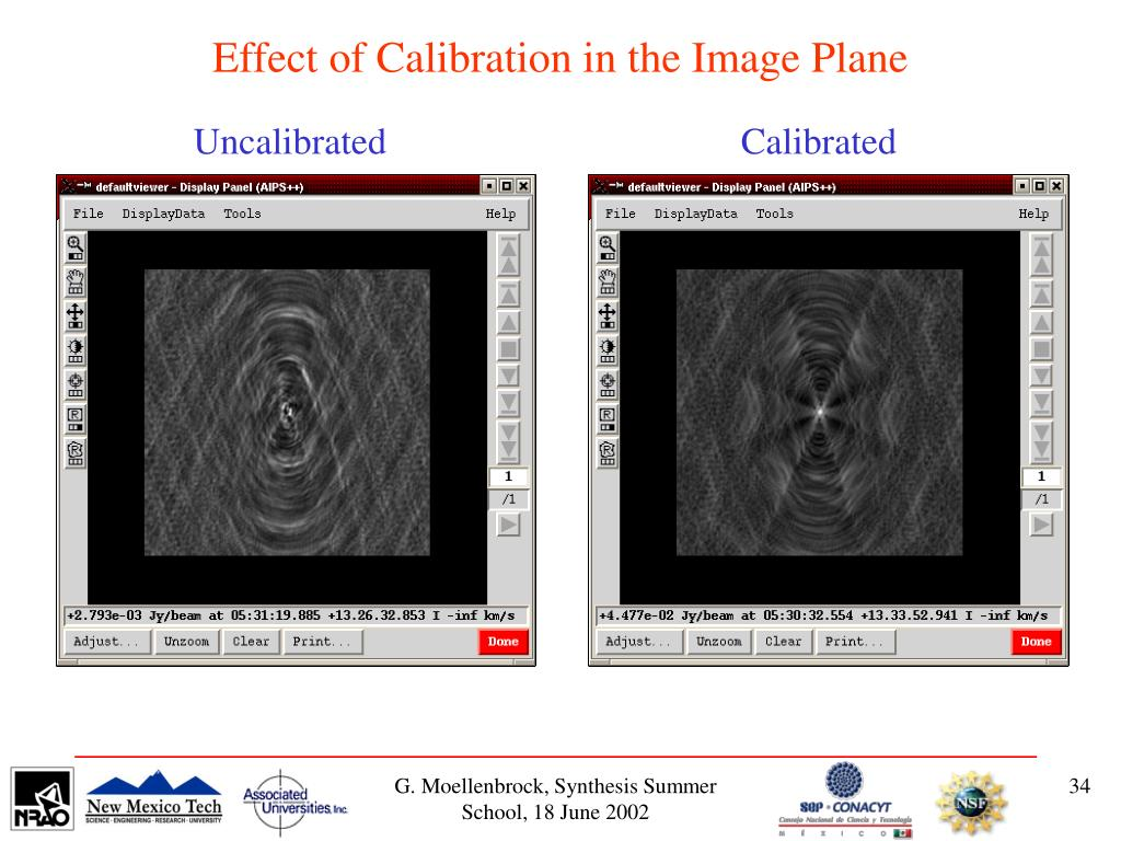 Effect of Calibration in the Image Plane