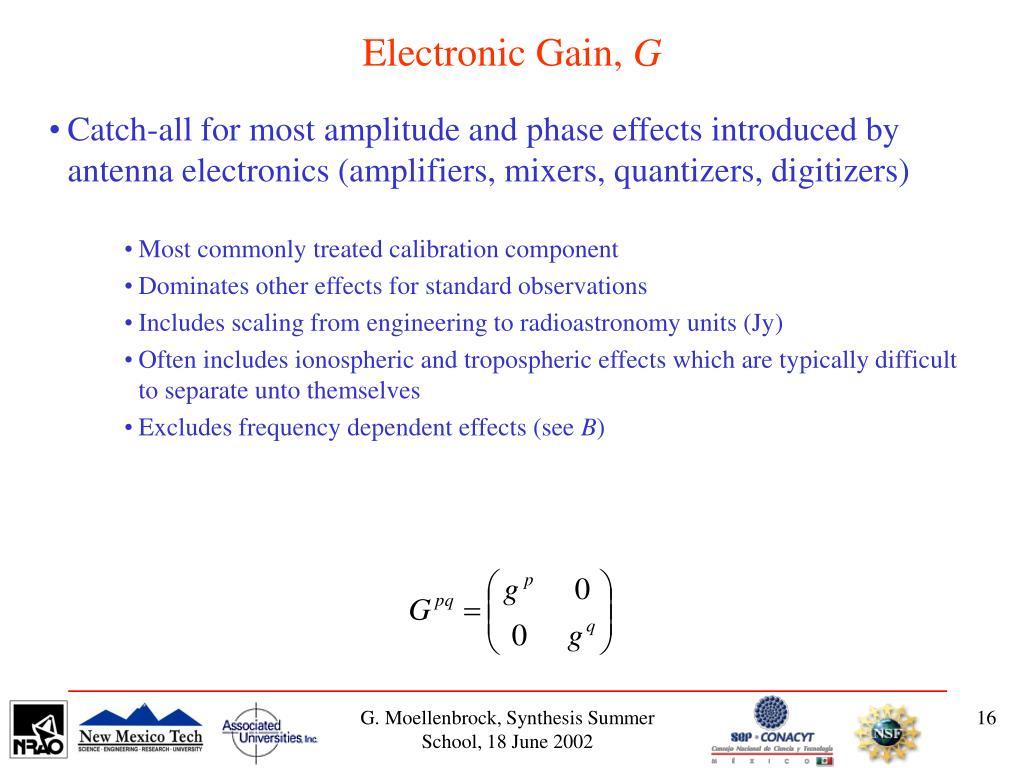 Electronic Gain,