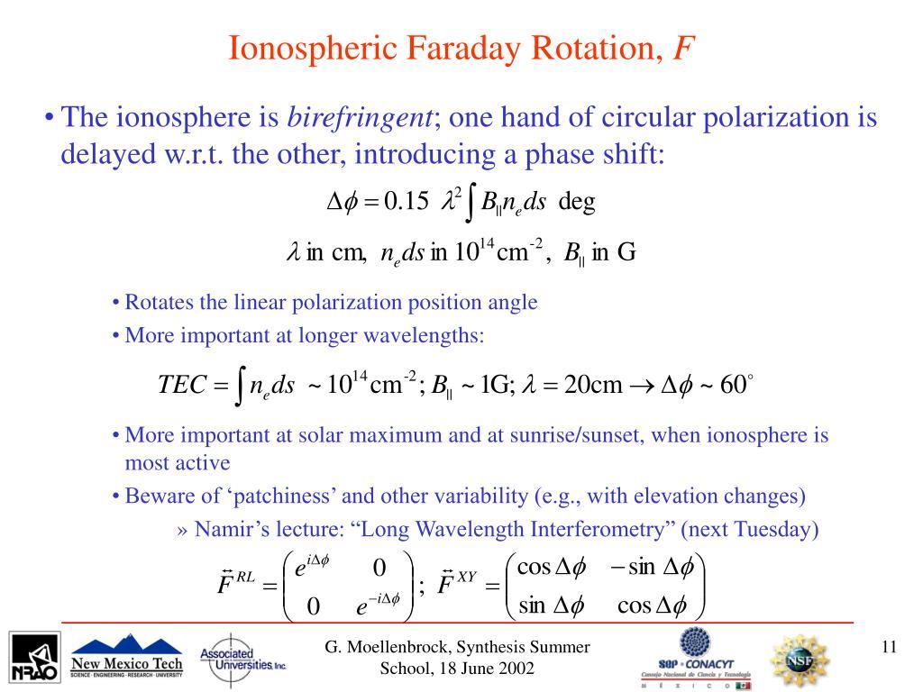 Ionospheric Faraday Rotation,