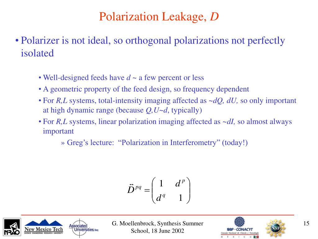 Polarization Leakage,