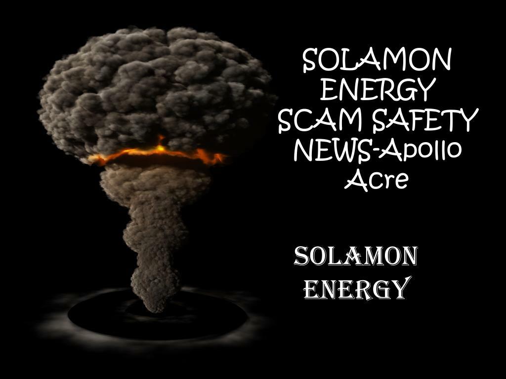 solamon energy scam safety news apollo acre l.