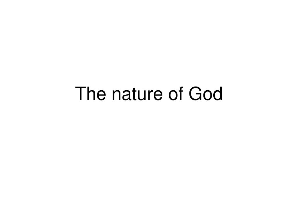 the nature of god l.
