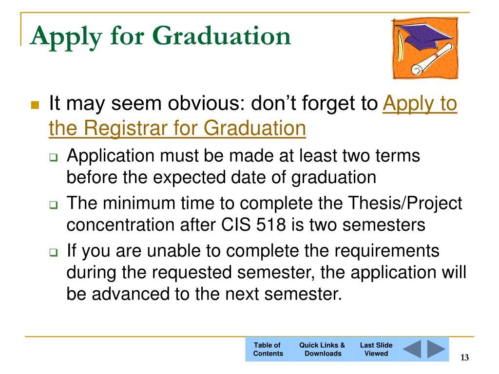 Apply for Graduation