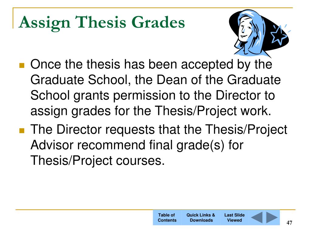 Assign Thesis Grades