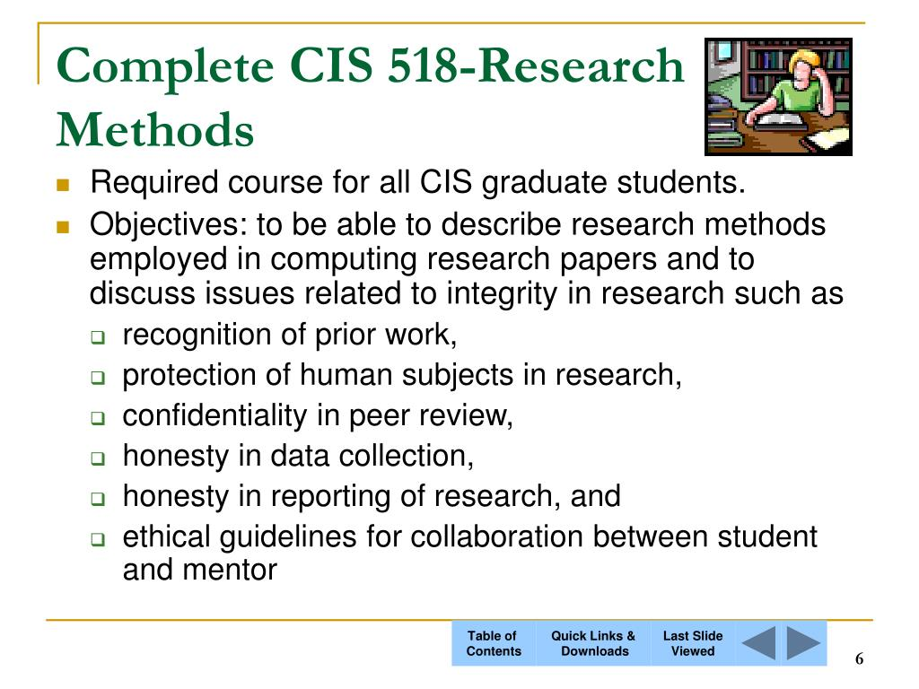 Complete CIS 518-Research Methods