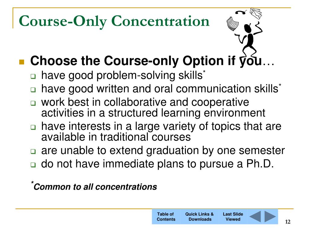 Course-Only Concentration