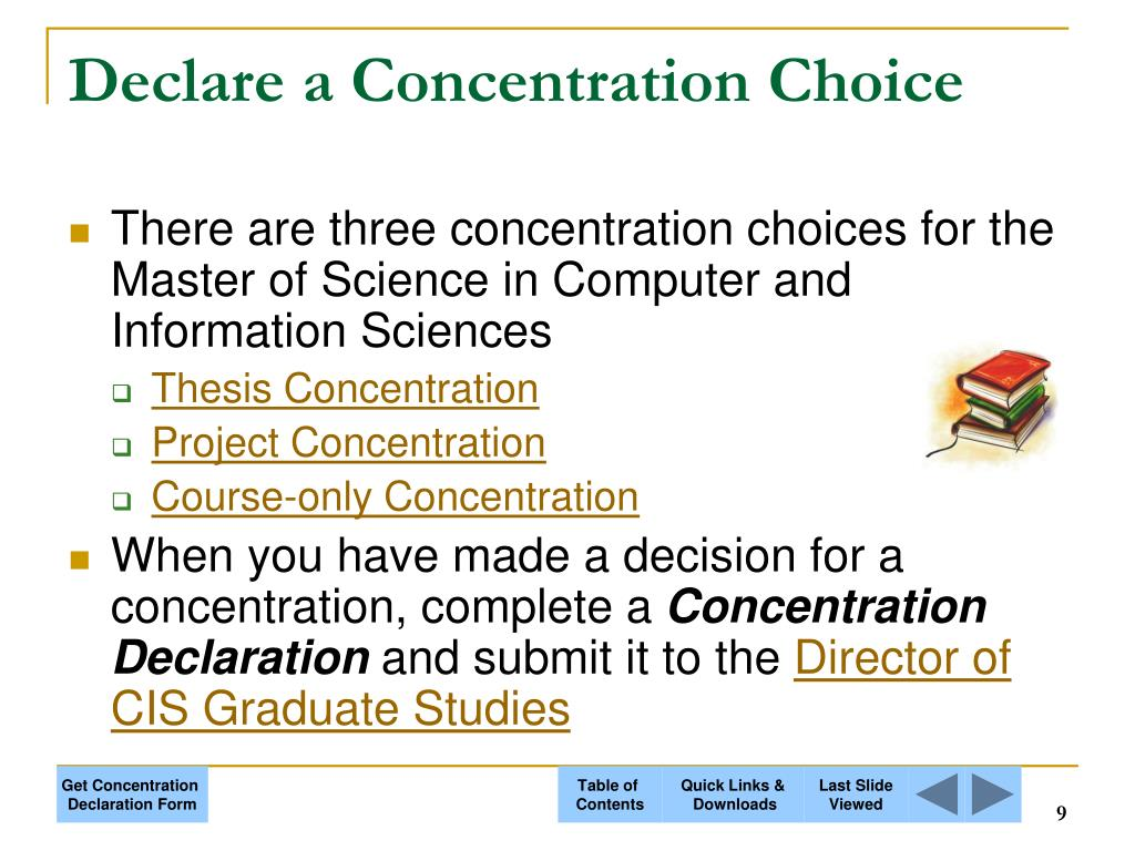 Declare a Concentration Choice