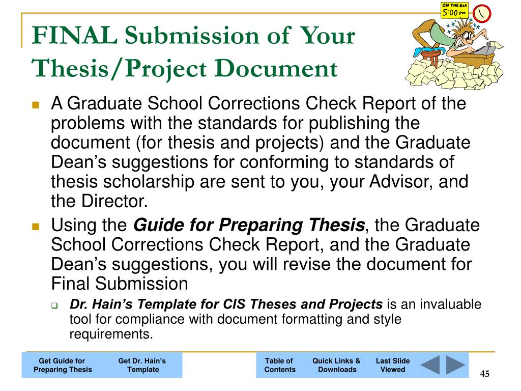 FINAL Submission of Your Thesis/Project Document