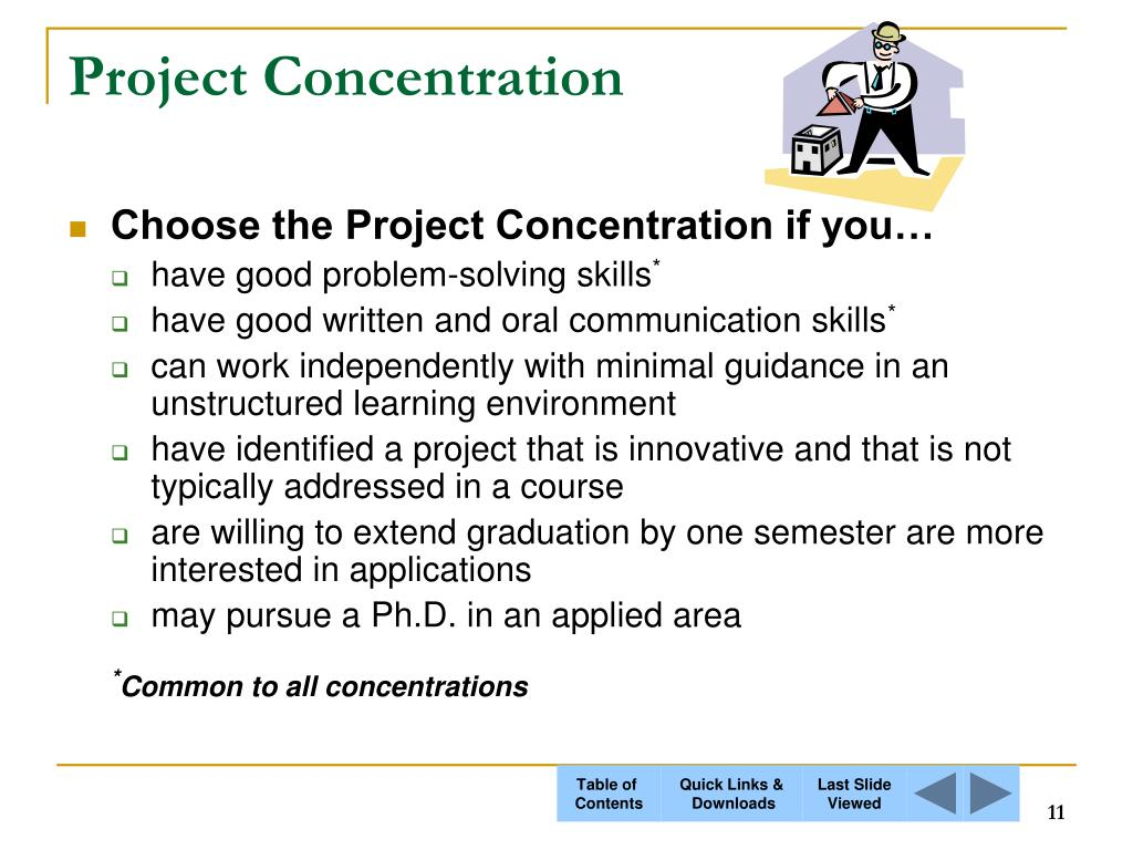 Project Concentration