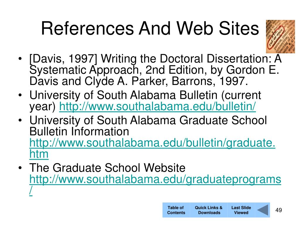 References And Web Sites