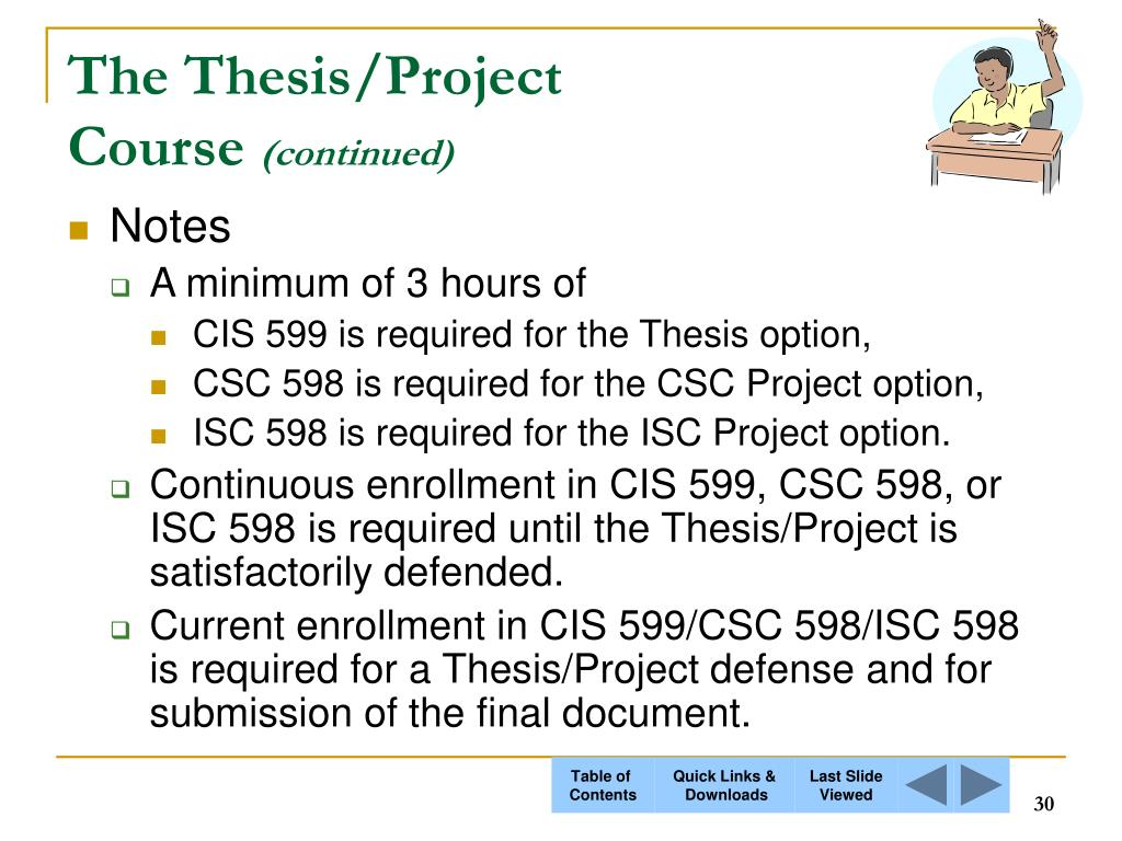 The Thesis/Project