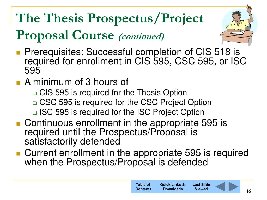 The Thesis Prospectus/Project Proposal Course