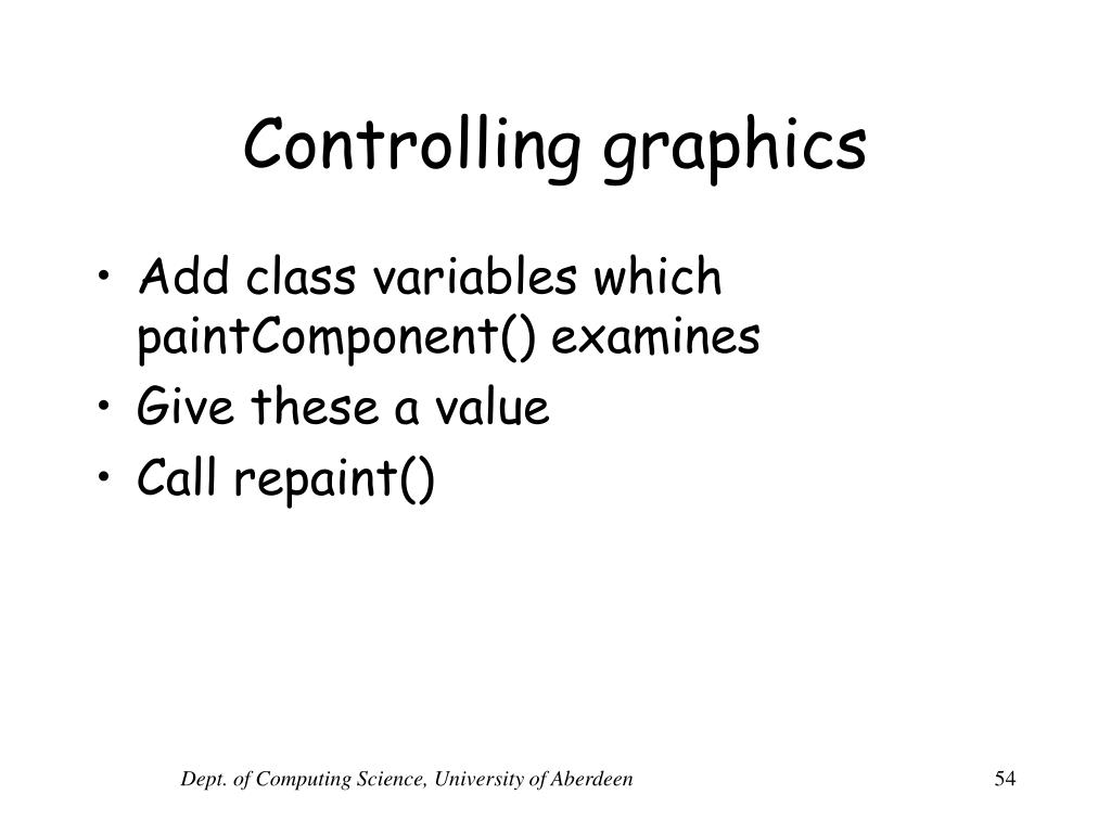 Controlling graphics