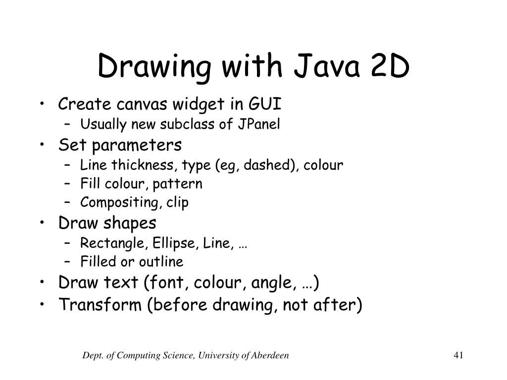 Drawing with Java 2D