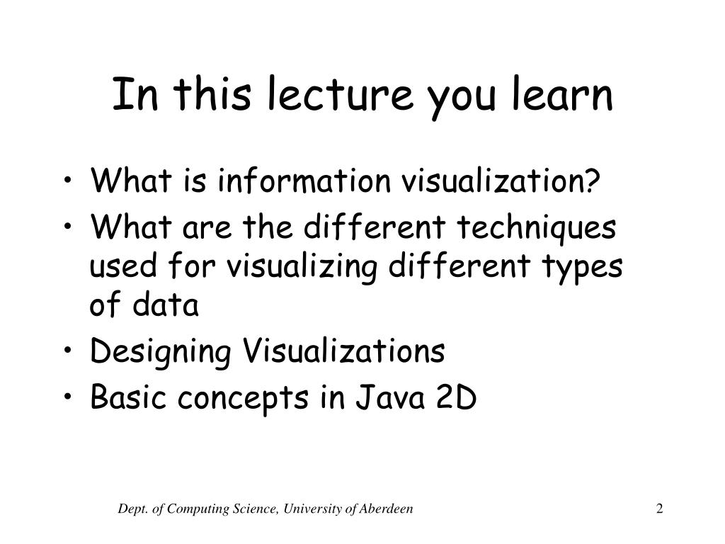 In this lecture you learn
