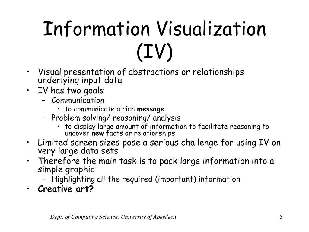 Information Visualization (IV)