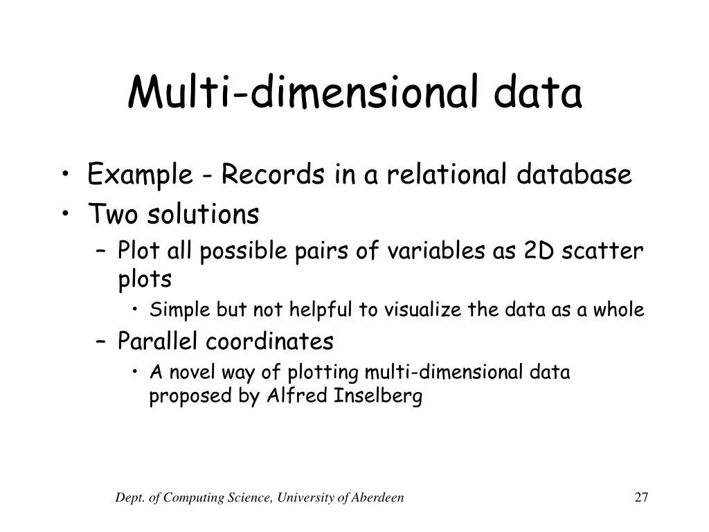 Multi-dimensional data
