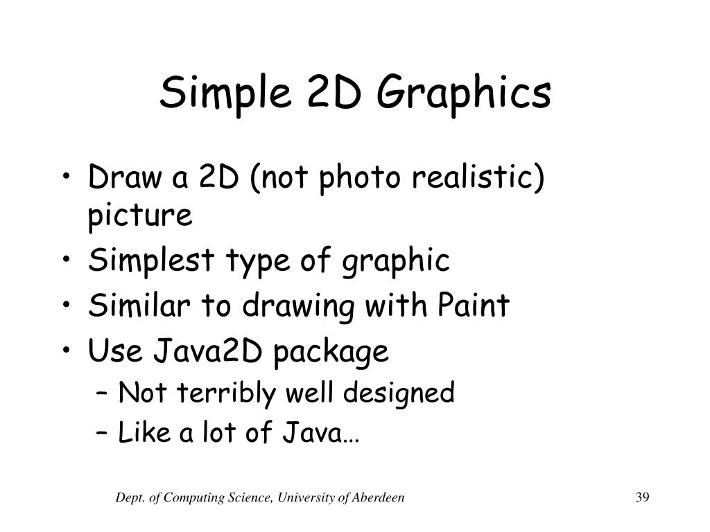 Simple 2D Graphics