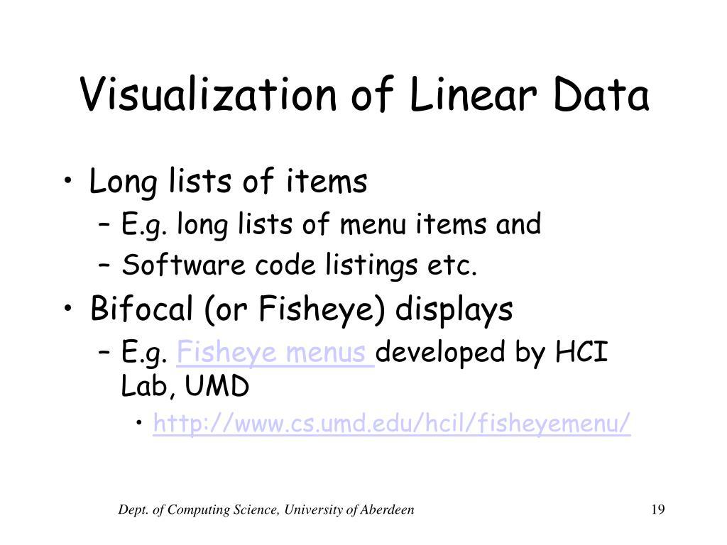 Visualization of Linear Data