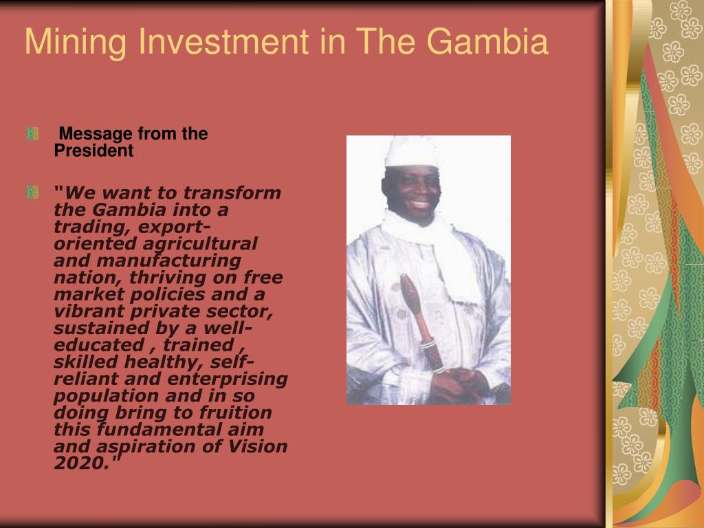 mining investment in the gambia l.