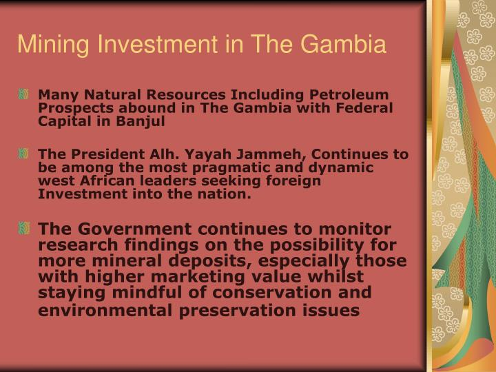 Mining investment in the gambia2