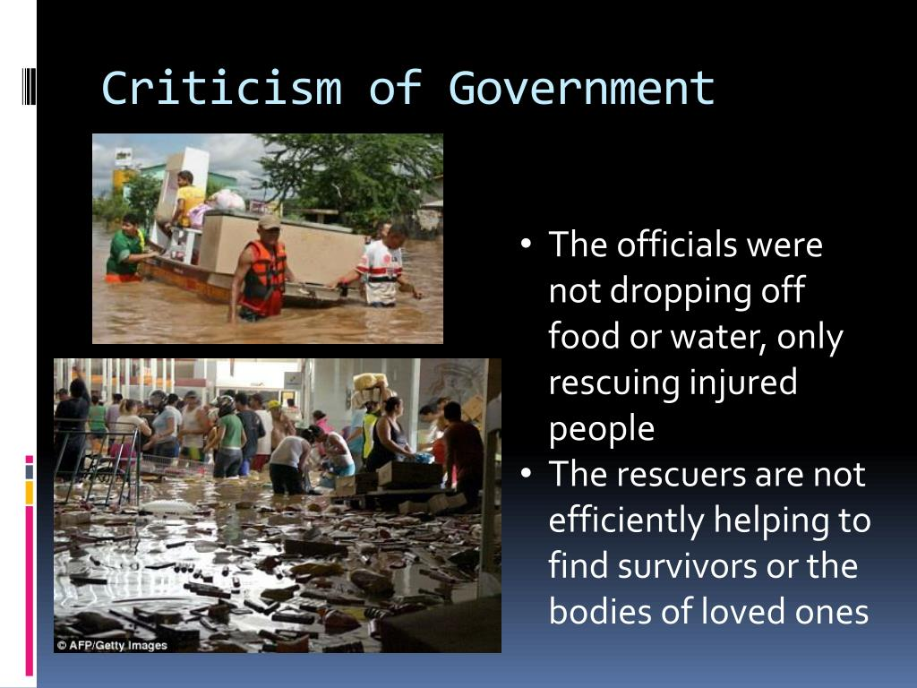 Criticism of Government