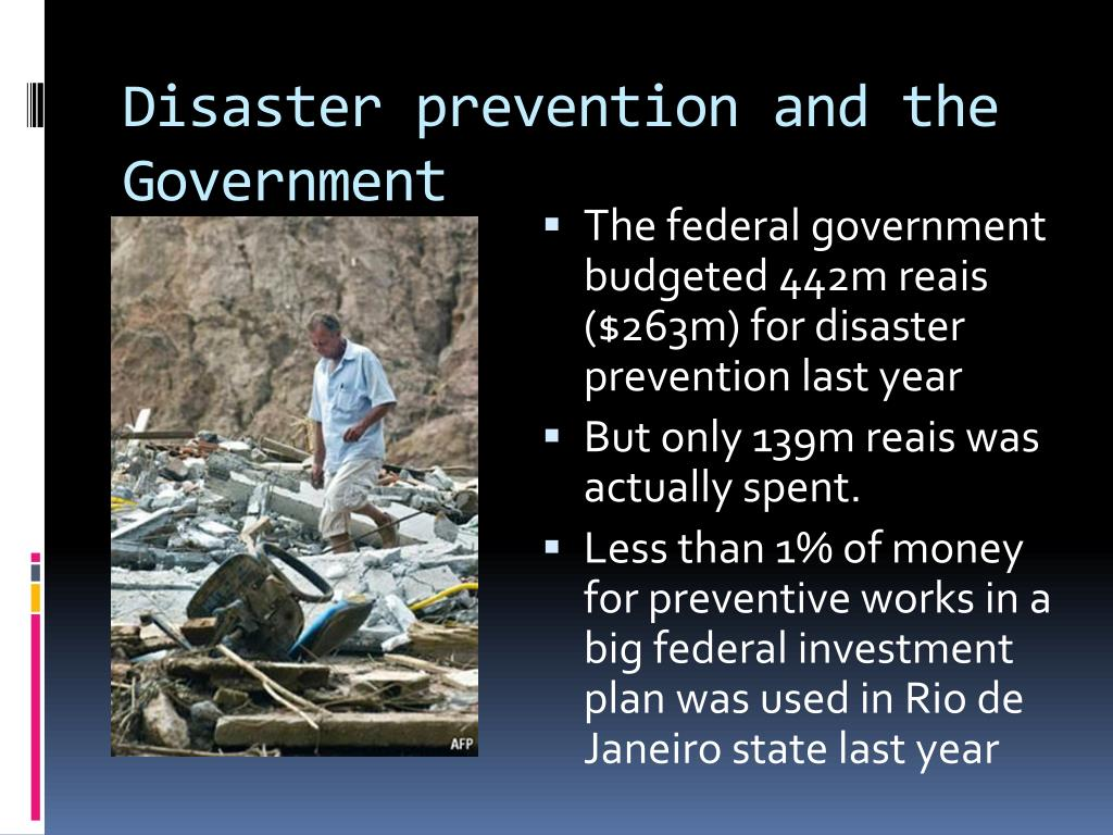 Disaster prevention and the Government