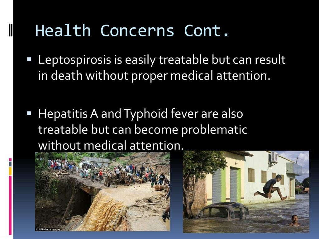 Health Concerns Cont.