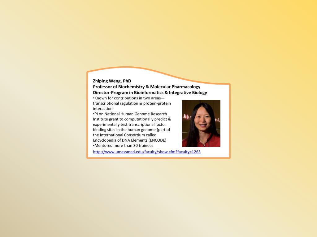 Zhiping Weng, PhD