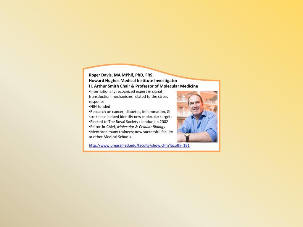 Roger Davis, MA MPhil, PhD, FRS