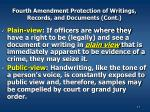 fourth amendment protection of writings records and documents cont