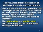 fourth amendment protection of writings records and documents