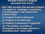 the best evidence or original document rule cont