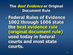 the best evidence or original document rule