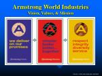 armstrong world industries vision values mission
