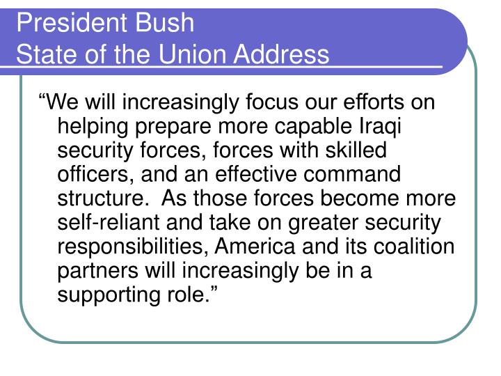 President bush state of the union address