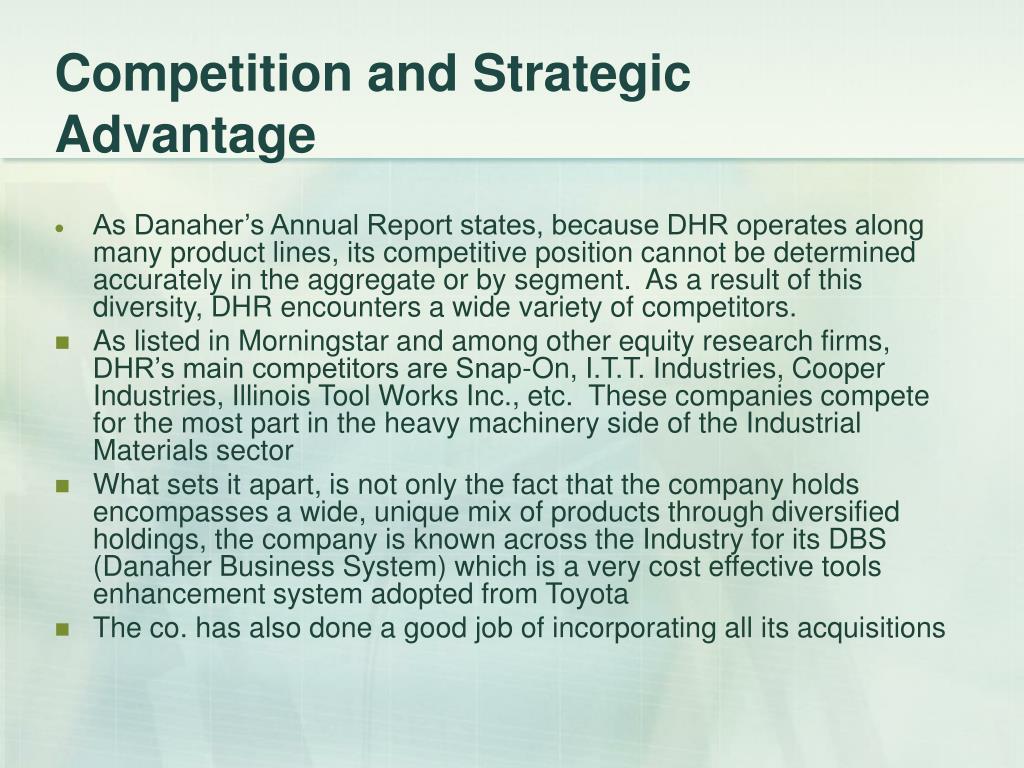 Competition and Strategic Advantage