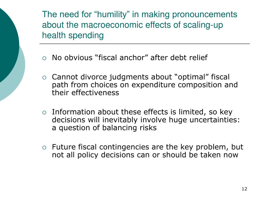 """The need for """"humility"""" in making pronouncements about the macroeconomic effects of scaling-up health spending"""