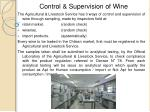 control supervision of wine