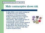 male contraceptive shows risk