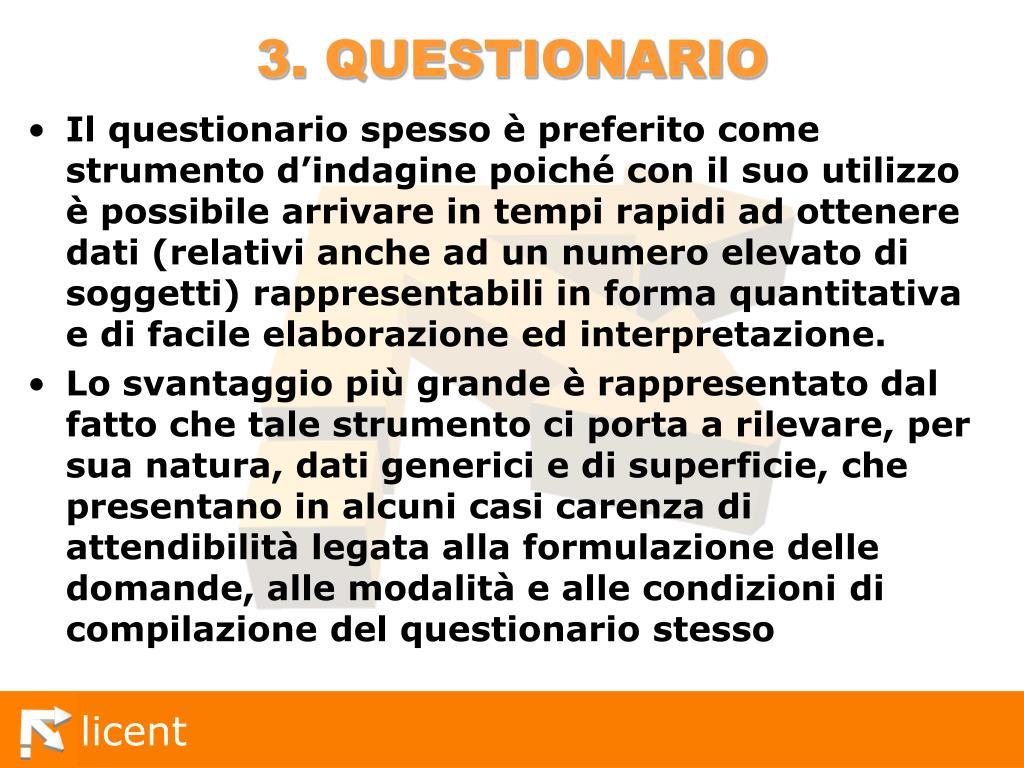 3. QUESTIONARIO