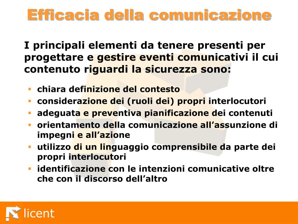 Efficacia della comunicazione